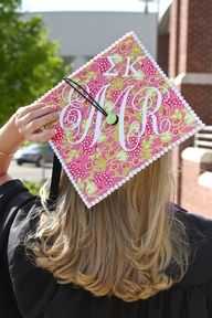 The biggest influence on college students, is other college students. Lilly Pulitzer is an extremely well known brand in colleges/universities and especially within greek life. This pin portrays both as a Sigma Kappa sister graduates with tribute to both her sorority and her favorite Lilly Pulitzer print.