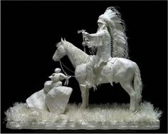 Native American Paper Sculpture by Allen & Patty Eckman