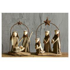 2PC Set Noël-Nativité Avec étoile-brodé Iron On Patch