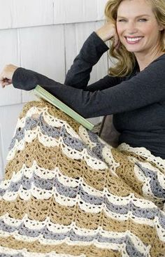 Häkelmuster für Muschel-Decke