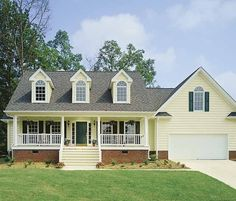 Eplans Country House Plan - Charm and Comfort - 1832 Square Feet and 3 Bedrooms(s) from Eplans - House Plan Code HWEPL07032