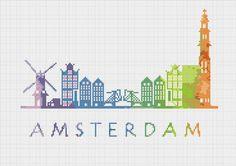 BOGO Cross Stitch Pattern Amsterdam by ZGCROSSSTITCHPATTERN