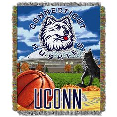 56c1dd0b44b8 Connecticut Huskies NCAA Home Field Advantage 48x60 Woven Tapestry Throw  Blanket Ncaa Apparel