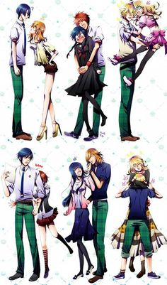 Uta no prince sama- haha! genderbent pairings!!!!!! <3 how could you not love this