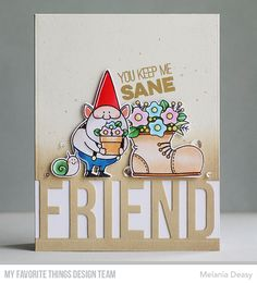 Small Heart, Close To My Heart, Mft Stamps, Friend Birthday, Line Design, Clear Stamps, That Way, Gnomes