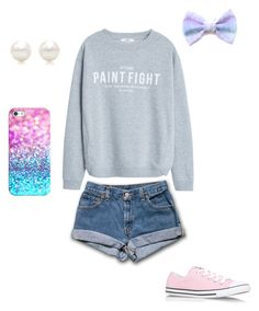 """""""Glitter Paint Fight"""" by potatojo on Polyvore featuring MANGO, Tiffany & Co., Casetify and Converse"""