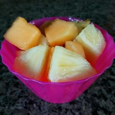 Lanchinho da tarde - melão e abacaxi