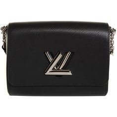 LOUIS VUITTON Epi Twist MM Noir Black ❤ liked on Polyvore featuring bags, handbags, shoulder bags, louis vuitton handbags, crossbody flap handbags, shoulder handbags, shoulder bag purse and flap handbags