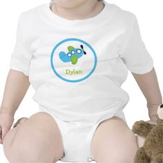 Boys Transportation Airplane Baby T-Shirt