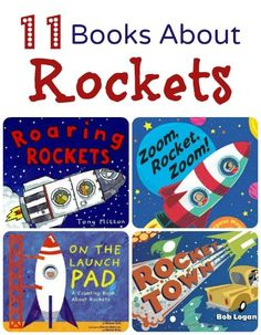 11 Books about rockets for kids. Fiction and nonfiction books for space theme, rocket theme, or preschool science