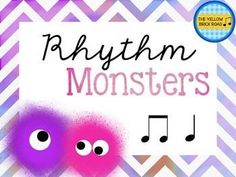 An interactive rhythm game for quarter and barred eighth notes. Kids love to hear the story and follow along with the rhythm monsters' adventures!
