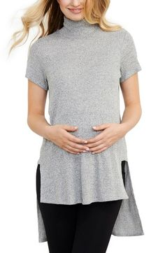 Maternal America Turtleneck High/Low Maternity Top available at #Nordstrom