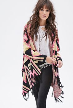 Abstract Tribal-Inspired Cardigan