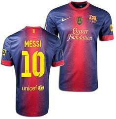 NIKE FC BARCELONA LIONEL MESSI HOME JERSEY 2012/13 FIFA CHAMPIONS PATCH