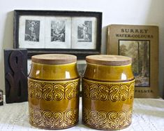 century homeware, kitchenalia and collectables by CeeCeeVintage Storage Jars, Vintage Pottery, Planter Pots, Etsy Seller, Etsy Shop, Unique Jewelry, Handmade Gifts, Home Decor, Vintage Ceramic