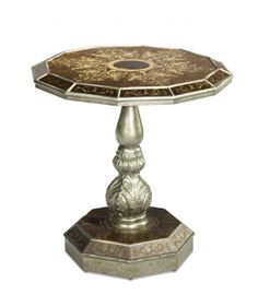 Discoveries Round Accent Table   AICO   Home Gallery Stores