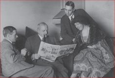 Colonel Archie Christie, Major Belcher, Secretary Bates, and Agatha Christie. Photo from the Christie Archive