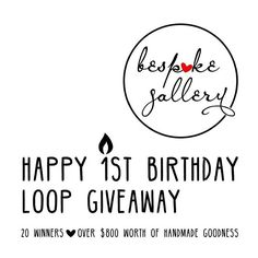 """➤ BESPOKE GALLERY IS ONE! ➤ We have partnered up with some amazing handmade businesses to present Bespoke Gallery'""""⁹s 1st Birthday Insta Loop Giveaway! We have one prize from each store up for grabs, with a total prize pool of over $800! @banjosbeadhouse is giving away gift voucher valued at $30.00.  TO ENTER: ✨ 1. LIKE this post and COMMENT with an emoji so we know you have entered ✨ 2. FOLLOW ME @banjosbeadhouse ✨ 3. Head over to @mellajanecandles and repeat steps 1 to 3. When you get back…"""
