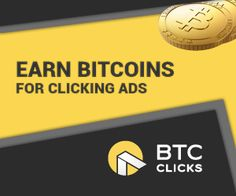 BITCOIN | BTCclicks BTC Clicks is an advertising platform where members can click ads to earn bitcoins or where advertisers can gain cheap exposure to bitcoin users. Earn Bitcoins Now! - Earn up to 0.00690 mBTC per click - Earn up to 0.00552 mBTC per affiliate/referral click - Minimum payout is 0.10000 mBTC - Affiliate/referral program with a 40% to 80% commission!