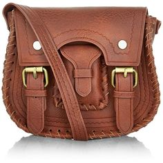 New Look Tan Buckle Strap Mini Saddle Bag ($14) ❤ liked on Polyvore featuring bags, handbags, shoulder bags, tan, faux leather purse, vegan purses, brown purse, vegan leather purse and shoulder strap purses