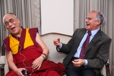 His Holiness the Dalai Lama, #captured sharing a hearty laugh with the former Union Minister and veteran #journalist Mr. Arun Shourie