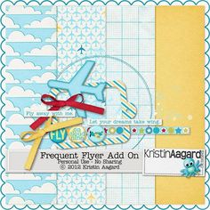 Frequent Flyer Add On. Free digital scrapbooking mini kit from Kristin Aagard. (Scroll to the bottom of the page for the link.)