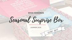 Planner Box | Erin Condren Seasonal Surprise Box - Summer 2018