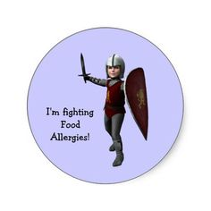 I'm fighting Food Allergies! Sticker