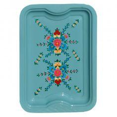 Jasmine White enamel tray