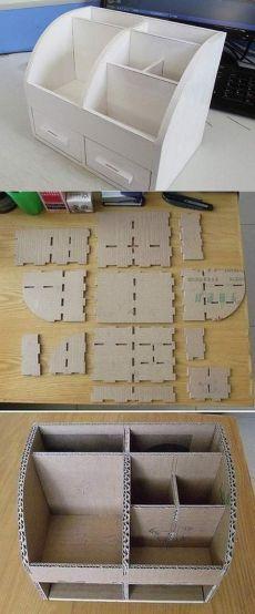 Органайзер из картонной коробки :: выкройка из картона коробки для хранения вещей :: Hand-made :: KakProsto.ru: как просто сделать всё