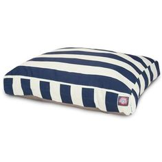 Majestic Pet Products Navy Blue Vertical Stripe Small Rectangle Pet Bed