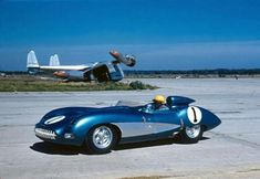 Zora Arkus Duntov drives his creation, the lightweight Corvette Super Sport