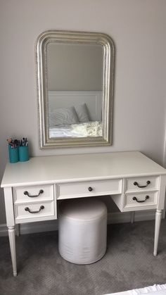 Vanity Table U003c3 Table From Pottery Barn Kids Mirror From Pottery Barn