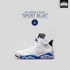 "Air Jordan 6 Retro ""Sport Blue"" 