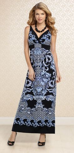 96c735b162 Lush With Loveliness: #Soma Britney Maxi Dress in Treasure Blue  #SomaIntimates What A