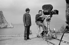 Jean-Luc Godard during the filming of Le Mepris (1963)