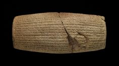 The Cyrus Cylinder (Persian: منشور کوروش‎) is an ancient clay cylinder, now broken into several fragments, on which is written a declaration in Akkadian cuneiform script in the name of the Achaemenid king Cyrus the Great.