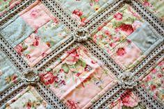 Crochet and fabric Quilt ---  gehäkelt und genäht  ein Quilt  -  tolle Arbeit