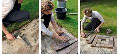 Leçon pour installer une allée de jardin