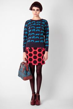 Kling………That sweater, <3 that skirt, and oh that bag.