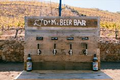 DIY beer bar! Do you think these are cute outside or trashy?