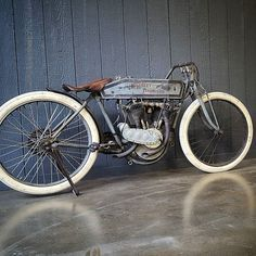 """mikewolfeamericanpicker: """"1914 #Harley Board track racer I bought years I never get tired of looking at this bike It's an honor to own it."""""""