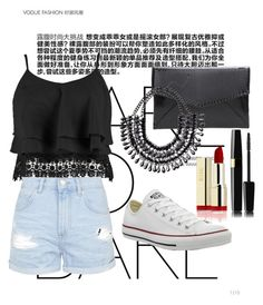 """""""Untitled #13"""" by orsolyapanna on Polyvore featuring Boohoo, Topshop and Converse"""