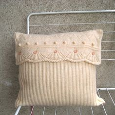 $48 a dainty knitted pillow cover
