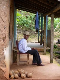 """This is a true modern day """"campesino"""" from Panama and his modest home. Photo credits to: Manolo Caracol"""