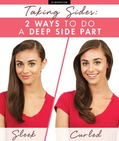 We're falling in love with the deep side part. Here are two different ways to wear this gorgeous hairstyle.