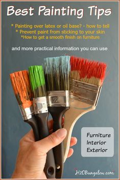 I've painted everything from my own houses, to rooms, madeover furniture and more. Best painting tips is filled with practical how to tips you can use to save time and money. Furniture Projects, Furniture Makeover, Diy Furniture, Diy Projects, Woodworking Projects, Painting Tips, House Painting, Painting Techniques, Painting Lessons
