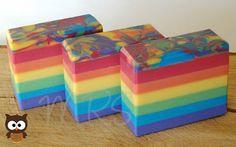 Rainbow soap tutorial