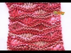 Como Tejer PUNTO VAINILLA - Sea Foam Stitch (107) - YouTube