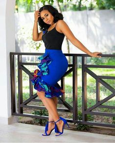 15 Latest Ankara Skirt Styles You Should Check Out You can not argue with fashionistas when they say Ankara styles will only get better and more creative, the trendy Ankara skirt styles listed in this post African Wear Dresses, Latest African Fashion Dresses, African Print Fashion, African Attire, African Women Fashion, Latest Fashion, Trendy Ankara Styles, Beautiful Ankara Styles, African Print Skirt